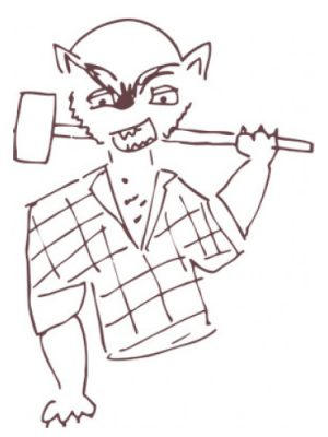 Werewolf Lumberjack Smell Bent für Männer