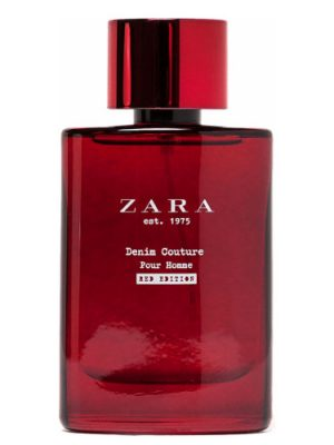 Zara est 1975 Denim Couture Pour Homme Red Edition Zara für Männer